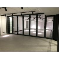 Buy cheap Soundproof and Waterproofness Movable Glass Wall With Top&bottom Retractable from wholesalers