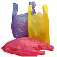 China Biodegradable PLA PBAT 25 Micron Compostable T Shirt Bag on sale