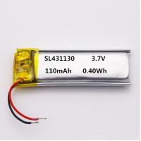 Buy cheap UL1642 UL2054 KC approved 431130 3.7V 110mAh lithium polymer battery for talking from wholesalers