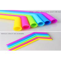 Quality Curved Bent Drinking Silicone Straws Dishwasher Safe Any Colors Easy To Clean for sale