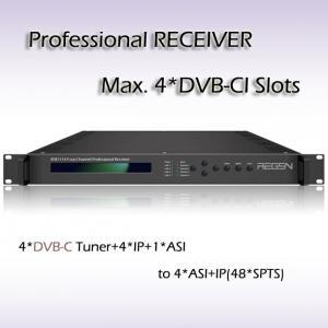 Quality DVB-T2 Demodulator Digital TV IPTV Headend Four Channels DVB-T/T2 Receiver RSR1114 for sale