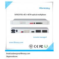 Quality console managed optical transceiver PCM MUX 16 channel FXO FXS telephone over fiber multiplexer for sale