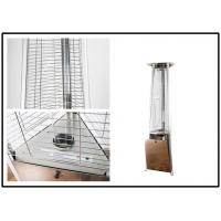 Quality Stand Up 12kw Fire Tube Patio Heater , Mocha Commercial Propane Patio Heater for sale