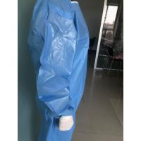 Quality Comfortable Disposable Isolation Gown Against Dust And Harmful Particles for sale