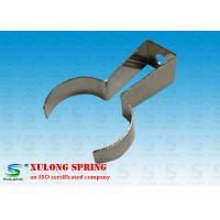 Quality Fexible Automotive Custom Flat Springs / Flat Metal Spring Clips Nickel Coated for sale