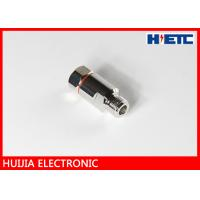 Quality RF N Straight Female Aerial Cable Connector With Brass Body Nickel / Silver Plated for sale