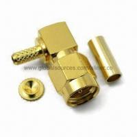Quality SMA R/A Plug RF Coaxial Connector for RG-174U/316U Cable, 50 Ohms for sale