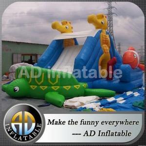 China Inexpensive tortoise shape mini inflatable slide on sale