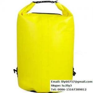 Quality 45L orange waterproof pvc tarpaulin dry duffle bag for sale