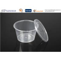 Quality Disposable plastic storage food containers with lids , round small PP Food Boxes for sale