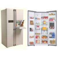 Quality BCD-580WT 580L side by side fridge with water dispenser mini bar for sale