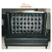 Buy cheap Contemporary Black Leather Restaurant Booth Furniture , Wooden Restaurant Booths from wholesalers