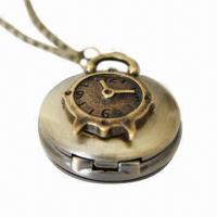 China Charming Antique Gold Pocket Watch with Necklace on sale
