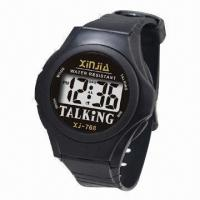 Quality LCD Talking Wristwatch, Tells you Time in Different Languages for sale