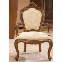Buy cheap Antique Wooden Modern Upholstery Fabric Dining Room Arm Chairs for Restaurant from wholesalers