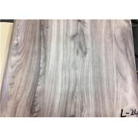 China Wood Textured Pattern PVC Laminated Plastic Film Easy To Clean For Wall Panel on sale