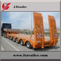 Best Liangxiang 3 axles flat low loader semi trailer / drop deck trailer wholesale