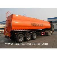 3 - Axle 40CBM fuel tanker / oil diesel transport truck semi tank trailer