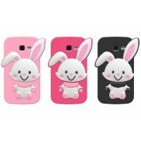 Quality Cartoon Folded Ear Rabbit Silicone SamSung i699 / i739 Cases Covers Custom Eco-friendly for sale