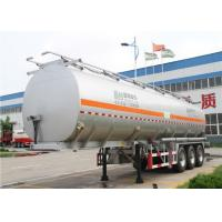 3 Axles 60 cbm aluminum Alloy Fuel tanker semi trailer / oil tank trailer