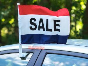 Quality Hemmed 75D Hand Waving Flag For Celebrations for sale