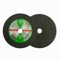 Quality Cutting Discs with Single/Double Fiber Reinforcements, Available and Suitable for Stainless Steel for sale