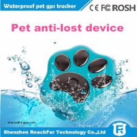 Buy cheap cheap mini long distance gps tracker for dogs cats pets with smart rolling LED from wholesalers