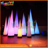 China 3m Height Oxford Inflatable LED Lighting Cone For Event / Party Decoration on sale