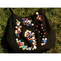 Quality printed fabric button bags for sale