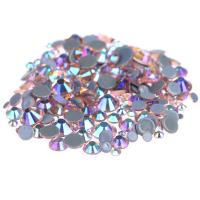 Quality Custom Size Stick On Rhinestones  , Round Shape Glass Crystal Rhinestones for sale