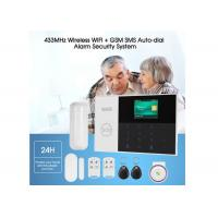 Quality Wired Wireless Home Security Alarm System GSM WIFI Alarm DC 5V With Panic Button for sale