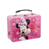 Quality Disney Minnie Metal Lunch Tin Tote   Disney Jr. Mickey Mouse Lunch Tin Tote for Puzzle  Disney Mickey & Minnie Large for sale