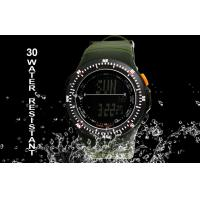 Quality Negative Display Military Alarm Digital Watch With Japanese Batteries for sale