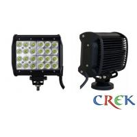 Best 7200 lm 4x4 Military Boat flood beam 72W LED Light Bar 7 Inch 6500K wholesale