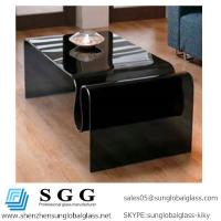 Quality Excellence quality of black curved glass top for sale
