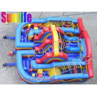 inflatable three in one slide and sport colorful pvc tarpaulin bouncy combo