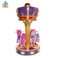 China Pink Children Carousel Horse Ride On Toy / Coin Operated Carousel Horse on sale