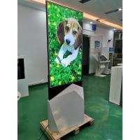 "Quality 55""Indoor QLED floorstand ultrathin moveable digital signage poster monitor Android double side lcd Screen kiosk for sale"