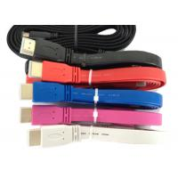 Quality 2m Flat IEEE 1394 HDMI Cable Foil Shielding , IEEE 1394B Cable 19P Male 1.3V for sale
