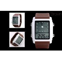 Quality LCD Analogue Watch , Women Dual Time Alarm Digital LCD Watches for sale