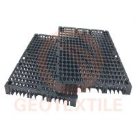 Quality Drain Cell Geocomposite Drainage Net High Strength HDPE Black 400mm*400mm*30mm for sale