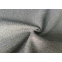 Skin Friendly Soft Melton Wool Fabric For Garment , Wool Coating Fabric