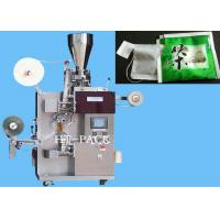 China Tea Bag / Herb Tea Packaging Machinery With Inner And Outer Bag on sale