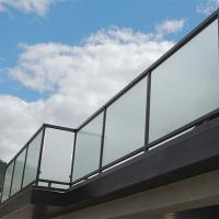 Quality Glass factory supply high quality decorative acid etched frosted glass fence panels for sale