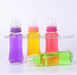 280ml Glass Feeding Bottle With Nipple