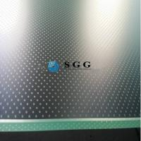 Quality Screen printing acid etched anti-slip floor glass on top anti slip glass staricase for sale