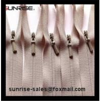 Buy cheap YKK #3 heavy duty in beige color close end invisible nylon zipper for lady pants from wholesalers