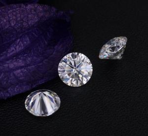0.85Ct 6mm Genuine Diamond Moissanite VVS Round Shape Excellent Cut