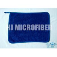 Quality Blue 30 * 40  microfiber dish towels , weft twist Ultra Thick Plush Fleece cleaning microfiber cloth for sale