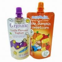 Buy cheap Organic Baby Food Spout Pouches, Water-resistant, Made of PET/NY/AL/PE from wholesalers